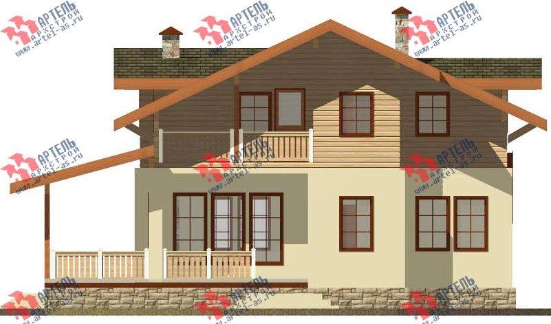 двухэтажный дом из камня площадью свыше 200 кв. м. с  балконом, террасой, проект Вариант 27 фотография 2937