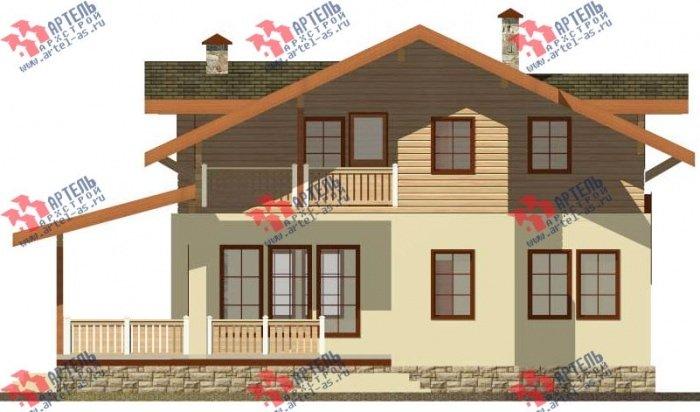двухэтажный дом из профилированного бруса площадью от 150 до 200 кв. м. с  балконом, террасой, эркером, проект Вариант 10.8 А фотография 4782