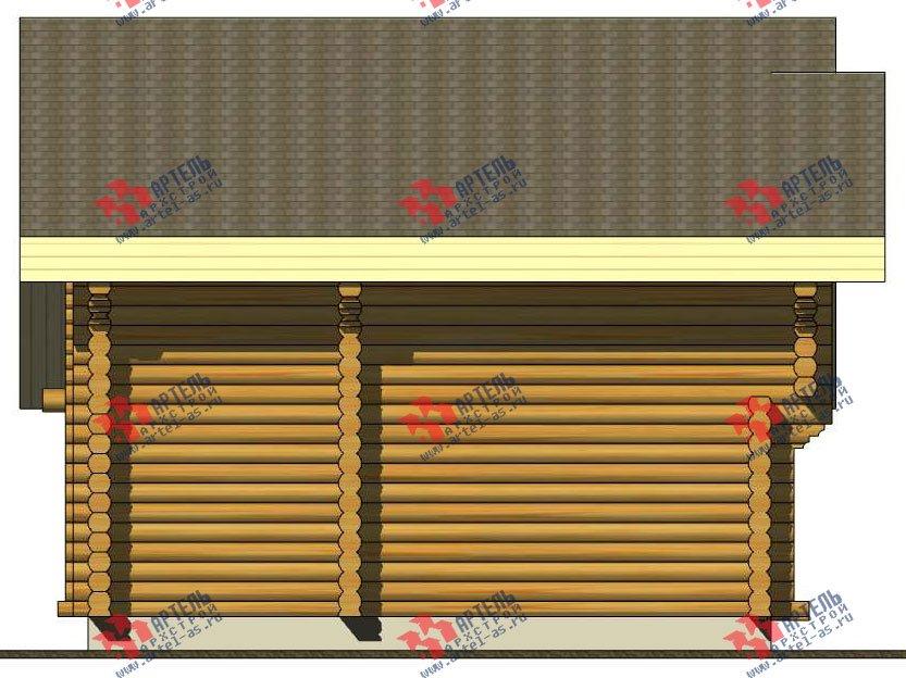 двухэтажный дом из оцилиндрованного бревна площадью от 100 до 150 кв. м. с  террасой, проект Вариант 4 фотография 3059