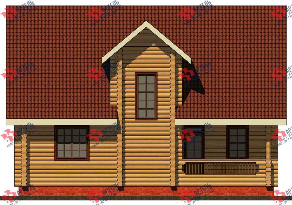 двухэтажный дом из оцилиндрованного бревна площадью от 100 до 150 кв. м. с  террасой, проект Вариант 6 фотография 3094