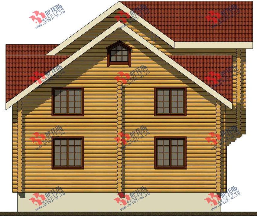 трёхэтажный дом из оцилиндрованного бревна площадью свыше 200 кв. м. с  балконом, террасой, проект Вариант 5 фотография 3082