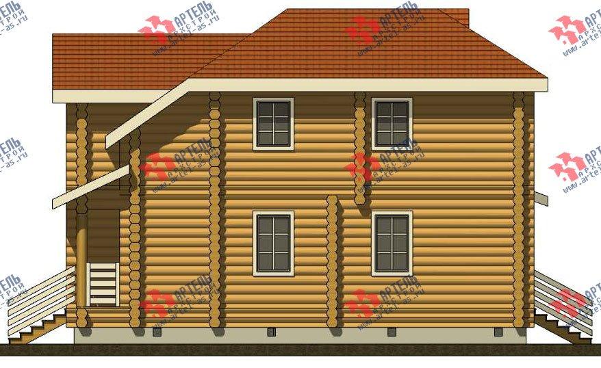 двухэтажный дом из оцилиндрованного бревна площадью от 150 до 200 кв. м. с  мансардой, проект Вариант 7 фотография 3105