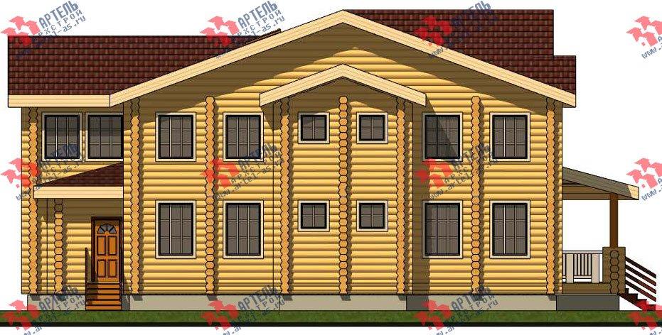 двухэтажный дом из оцилиндрованного бревна площадью свыше 200 кв. м. с  террасой, проект Вариант 8 фотография 3117