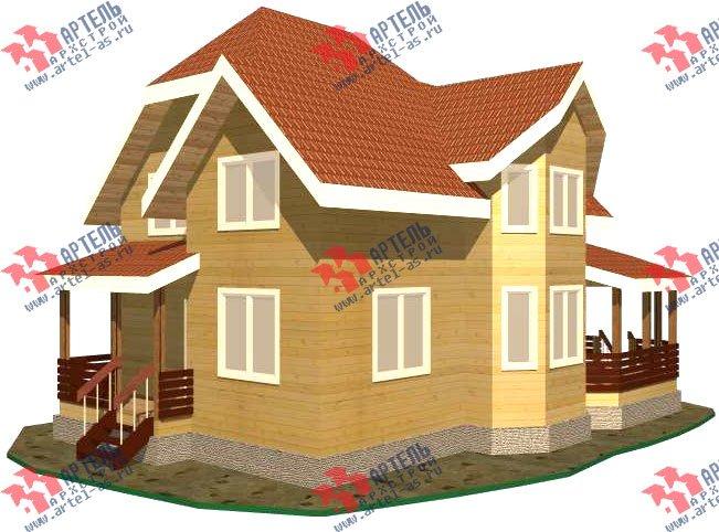 двухэтажный дом из бруса площадью от 150 до 200 кв. м. с  эркером, проект Вариант 11.2 В фотография 3155