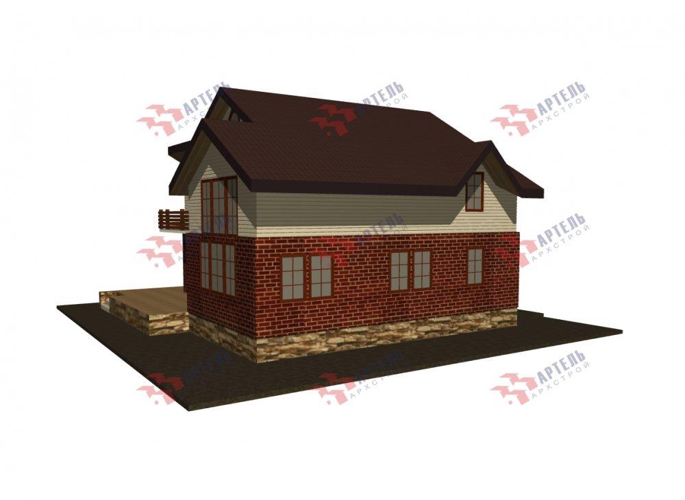 дом омбинированные дома, проект Вариант 12.6 А Комбинированный фотография 5523