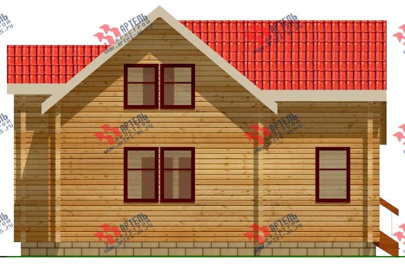 двухэтажный дом из профилированного бруса площадью от 100 до 150 кв. м. с  мансардой, эркером, проект Вариант 9 А фотография 232