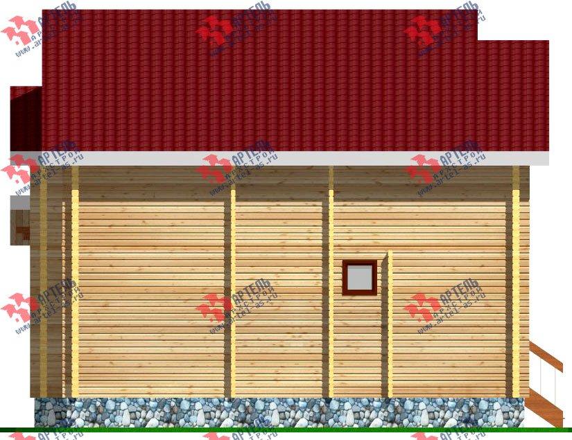 двухэтажный дом из профилированного бруса площадью от 100 до 150 кв. м. с  балконом, мансардой, проект Вариант 9.3 К фотография 254