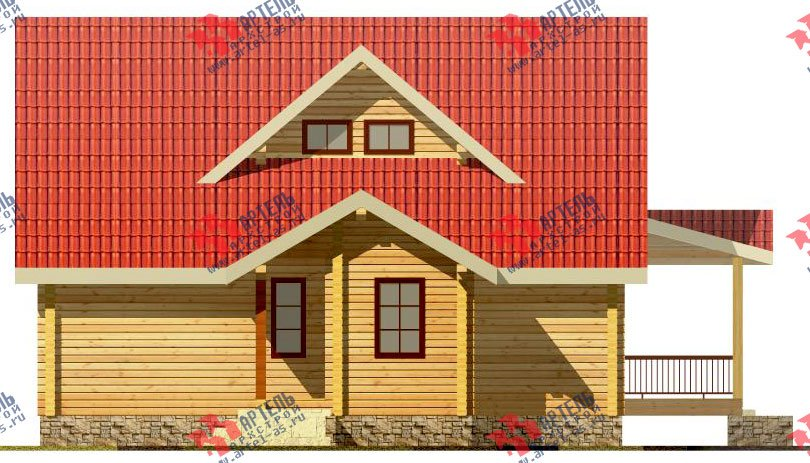 двухэтажный проект площадью от 150 до 200 кв. м. с  мансардой, террасой, проект Вариант 8.5 Л фотография 81