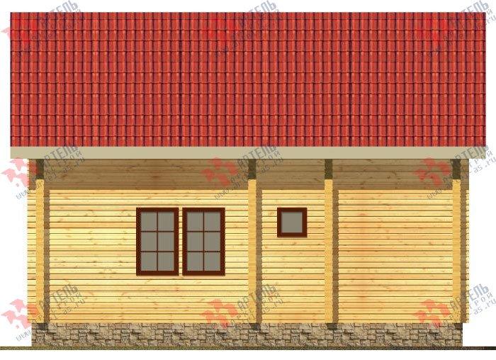 двухэтажный дом из профилированного бруса площадью от 150 до 200 кв. м. с  балконом, мансардой, террасой, проект Вариант 8.6 К фотография 330