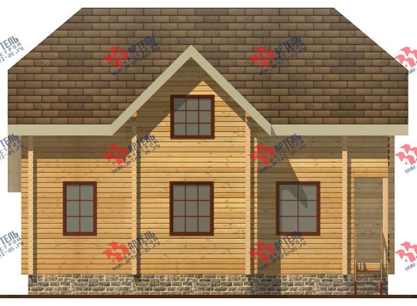 двухэтажный дом из профилированного бруса площадью от 100 до 150 кв. м. с  верандой, мансардой, эркером, проект Вариант 8.2 К фотография 352
