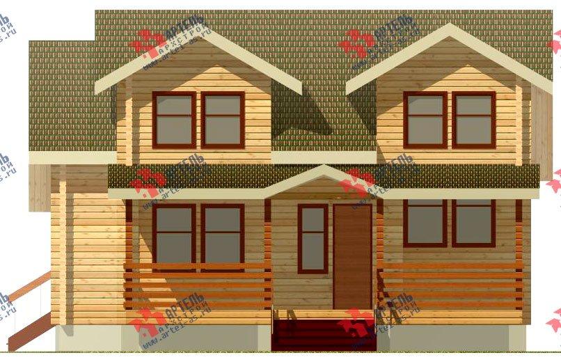 двухэтажный дом из профилированного бруса площадью от 150 до 200 кв. м., проект Вариант 9 О фотография 363