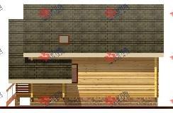 двухэтажный дом из профилированного бруса площадью от 150 до 200 кв. м. с  балконом, террасой, проект Вариант 7.7 А фотография 384