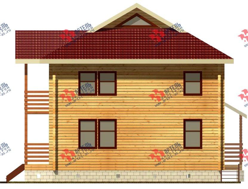 двухэтажный дом из профилированного бруса площадью свыше 200 кв. м. с  балконом, проект Вариант 9 Т фотография 418
