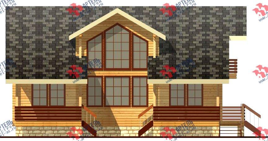 двухэтажный дом из профилированного бруса площадью свыше 200 кв. м. с  балконом, мансардой, террасой, эркером, проект Вариант 11 К фотография 430