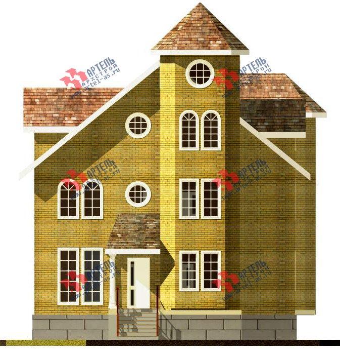 трёхэтажный дом из камня площадью свыше 200 кв. м. с  эркером, проект Вариант 20 фотография 646