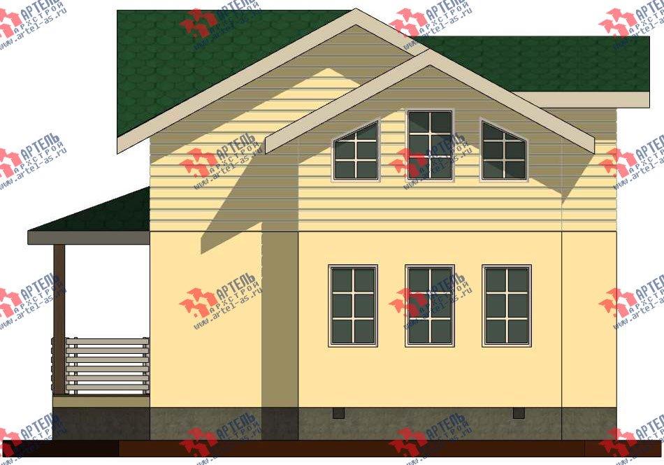 двухэтажный дом из профилированного бруса камерной сушки площадью от 100 до 150 кв. м. с  мансардой, проект Вариант 6 фотография 2790