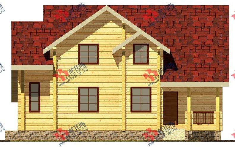 двухэтажный дом из бруса площадью свыше 200 кв. м. с  балконом, мансардой, проект Вариант 9.5 К-2 фотография 101