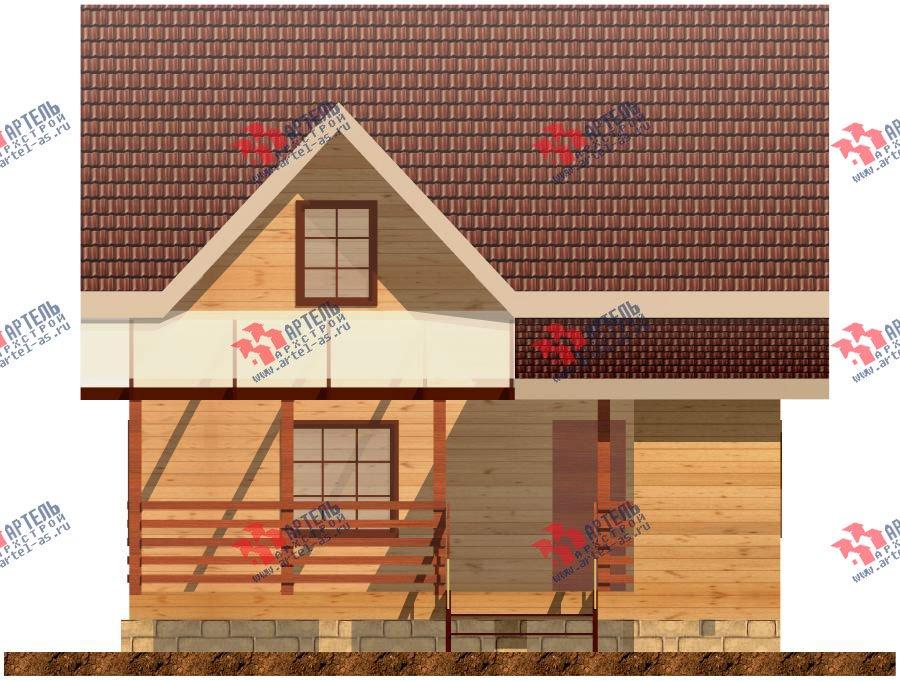 двухэтажный дом из профилированного бруса площадью от 100 до 150 кв. м. с  террасой, проект Вариант 7.2 А фотография 904
