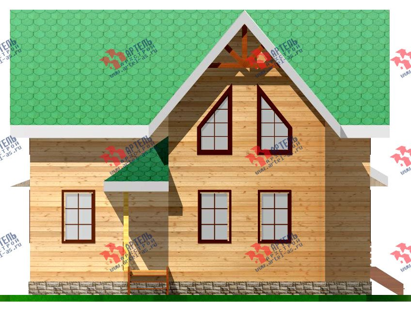 двухэтажный дом из профилированного бруса площадью от 100 до 150 кв. м. с  мансардой, проект Вариант 7.3 Б фотография 926