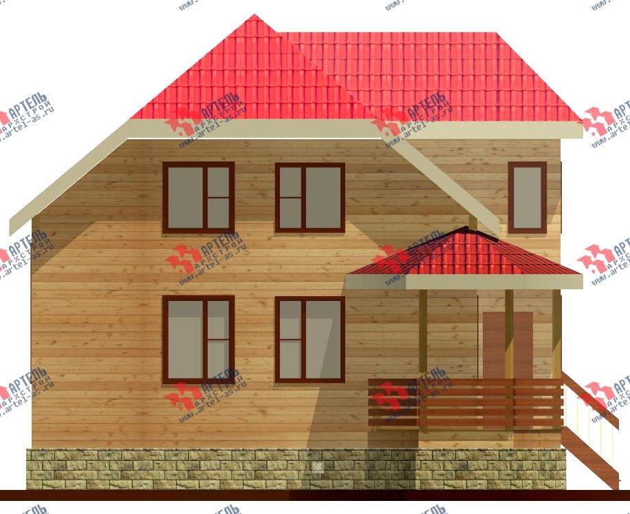 двухэтажный дом из бруса площадью от 100 до 150 кв. м. с  мансардой, террасой, эркером, проект Вариант 8 Д-1 фотография 1014