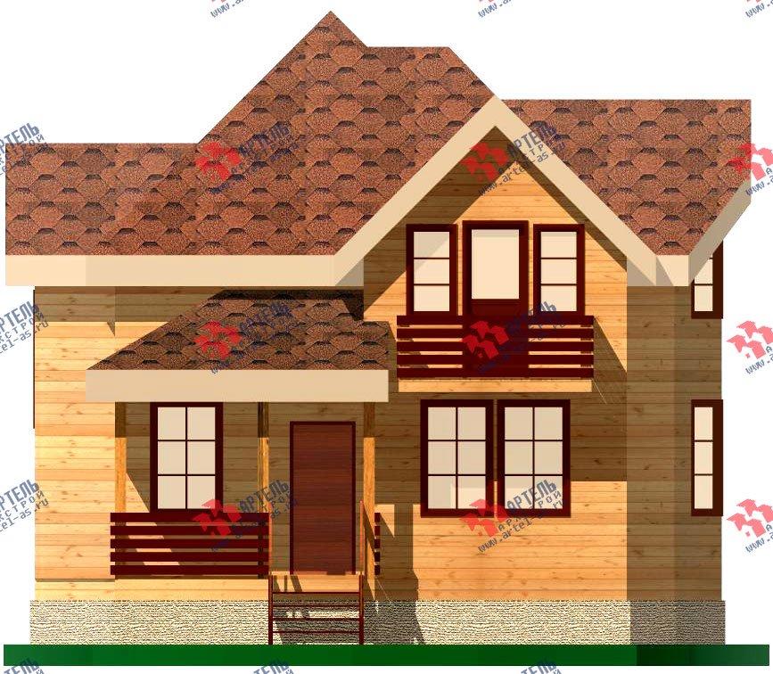 двухэтажный дом из бруса площадью от 100 до 150 кв. м. с  балконом, мансардой, эркером, проект Вариант 9.3 В фотография 1130