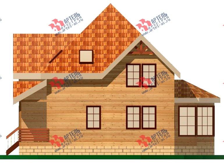 двухэтажный дом из бруса площадью от 150 до 200 кв. м. с  верандой, проект Вариант 8.6 А фотография 1159