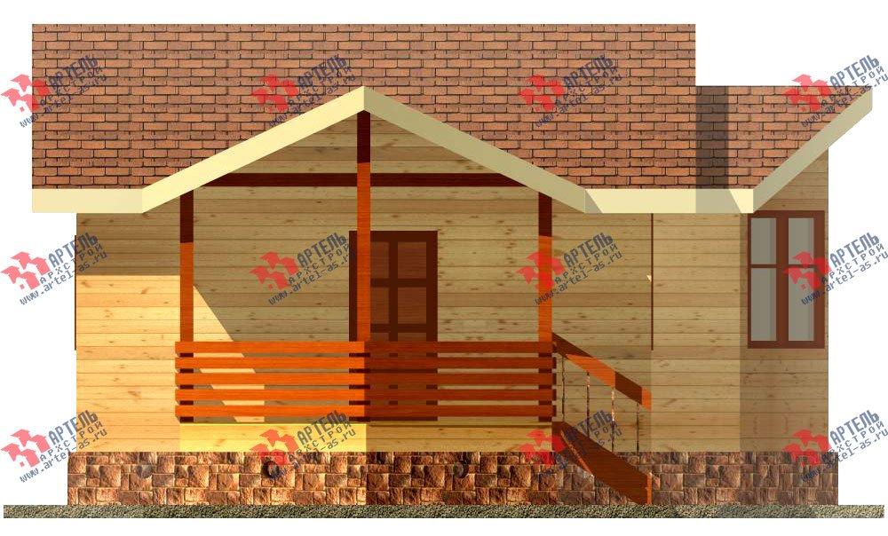 одноэтажный дом из профилированного бруса площадью до 100 кв. м., проект Вариант 2 фотография 1534