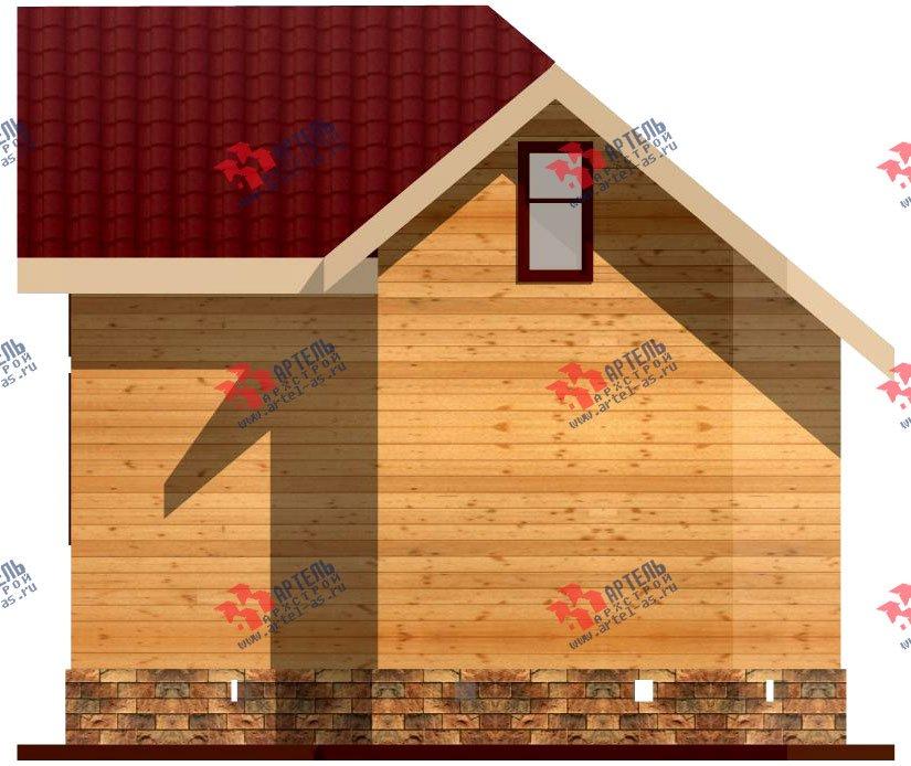 двухэтажный дом из профилированного бруса площадью до 100 кв. м., проект Вариант 3 фотография 1543