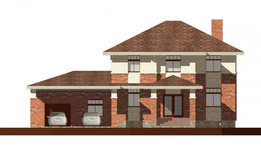 двухэтажный дом из профилированного бруса площадью до 100 кв. м. с  мансардой, проект Вариант 5.6 А фотография 133