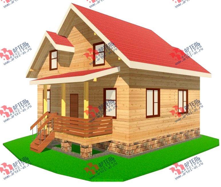 двухэтажный дом из бруса площадью от 100 до 150 кв. м. с  мансардой, эркером, проект Вариант 8.2 А фотография 2173