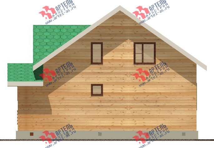 двухэтажный дом из бруса площадью от 100 до 150 кв. м. с  мансардой, проект Вариант 8 А-1 фотография 2191