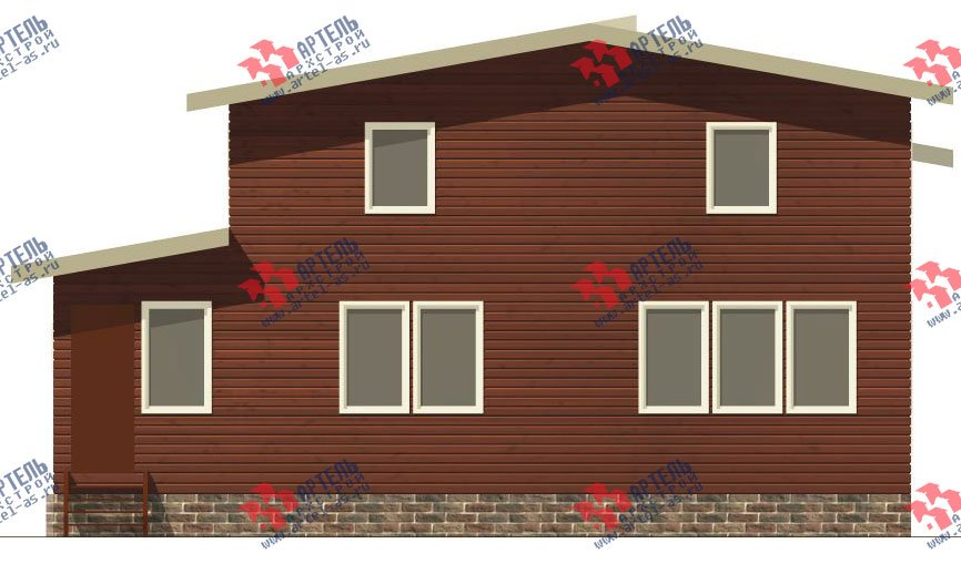 двухэтажный дом из бруса площадью от 150 до 200 кв. м. с  мансардой, проект Вариант 12.2 А фотография 2214