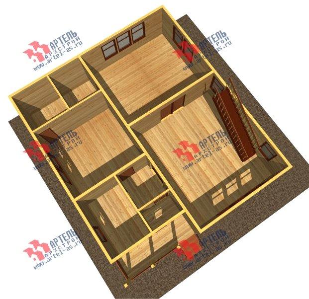 двухэтажный дом из бруса площадью свыше 200 кв. м. с  балконом, проект Вариант 10.7 А фотография 2245