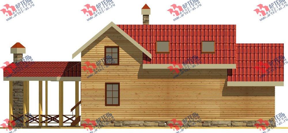 двухэтажный дом из профилированного бруса площадью от 100 до 150 кв. м. с  мансардой, террасой, эркером, проект Вариант 6.7 Б фотография 2476