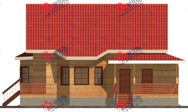 двухэтажный дом из бруса площадью свыше 200 кв. м. с  балконом, мансардой, террасой, эркером, проект Вариант 13 Г фотография 2408