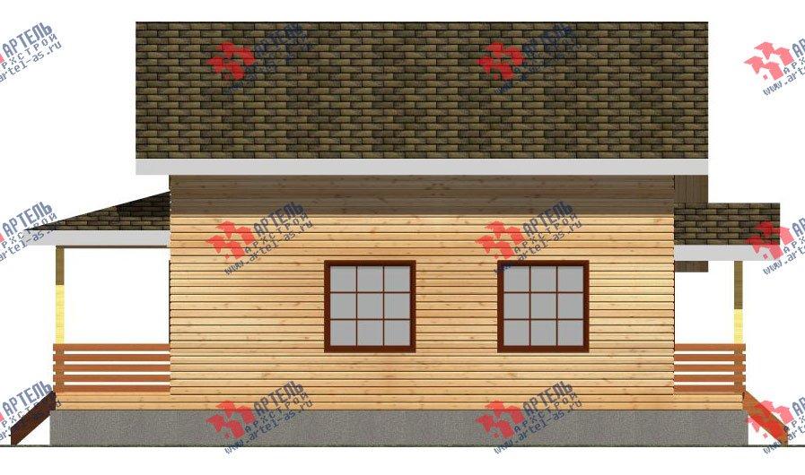 двухэтажный дом из профилированного бруса площадью от 100 до 150 кв. м. с  мансардой, террасой, проект Вариант 8.8 Б фотография 2454