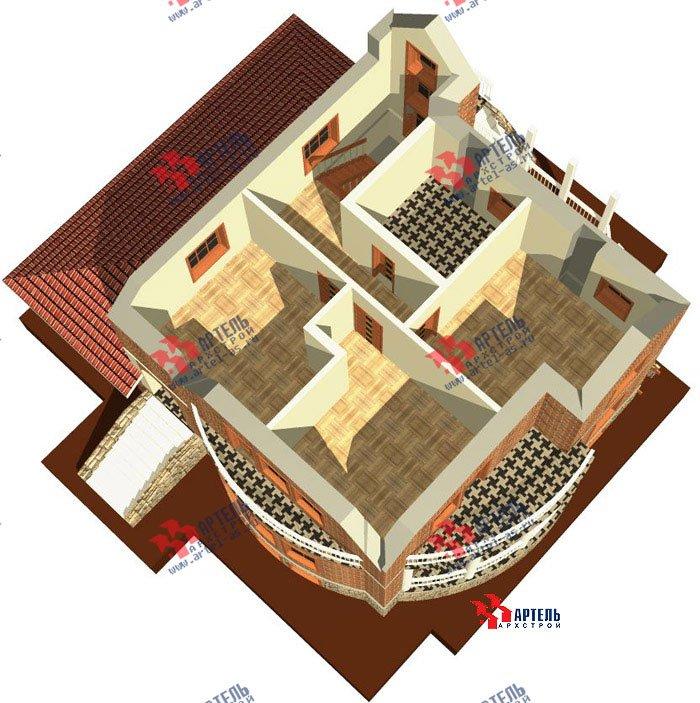 трёхэтажный дом из камня площадью свыше 200 кв. м. с  балконом, гаражом, террасой, эркером, проект Вариант 3 фотография 469
