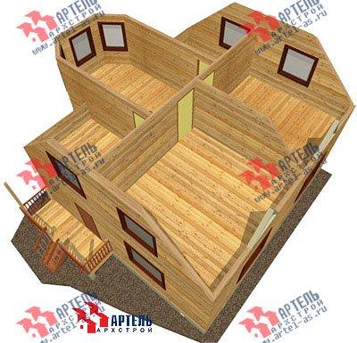 двухэтажный дом из бруса площадью от 100 до 150 кв. м. с  мансардой, эркером, проект Вариант 8 Б фотография 1180