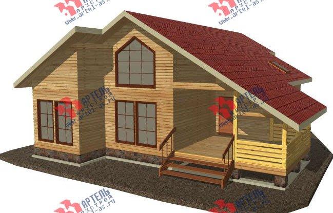 двухэтажный дом из бруса площадью от 150 до 200 кв. м. с  мансардой, террасой, эркером, проект Вариант 14 В фотография 2336