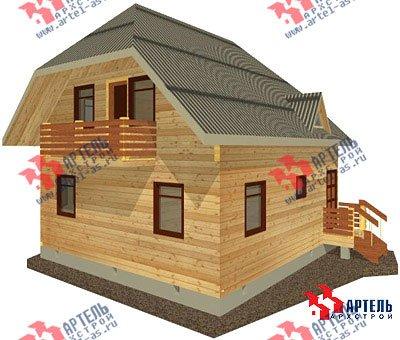 двухэтажный дом из профилированного бруса площадью от 100 до 150 кв. м. с  балконом, мансардой, эркером, проект Вариант 7.5 А фотография 786