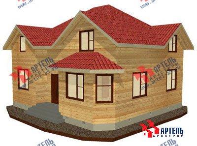 двухэтажный дом из бруса площадью от 150 до 200 кв. м. с  мансардой, эркером, проект Вариант 9.5 А фотография 1206