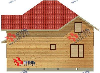 двухэтажный дом из бруса площадью от 150 до 200 кв. м. с  мансардой, эркером, проект Вариант 9.5 А фотография 1209