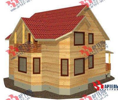 двухэтажный дом из бруса площадью от 150 до 200 кв. м. с  балконом, мансардой, эркером, проект Вариант 9 В фотография 1248