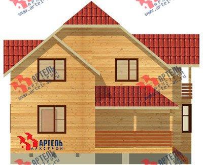 двухэтажный дом из бруса площадью от 150 до 200 кв. м. с  балконом, верандой, мансардой, эркером, проект Вариант 9 М фотография 1284