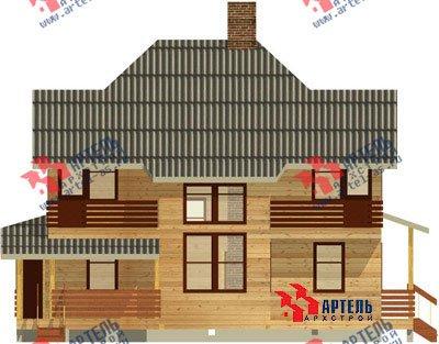 двухэтажный дом из профилированного бруса площадью свыше 200 кв. м. с  балконом, мансардой, террасой, эркером, проект Вариант 10.5 А фотография 1324