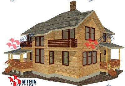 двухэтажный дом из профилированного бруса площадью свыше 200 кв. м. с  балконом, мансардой, террасой, эркером, проект Вариант 10.5 А фотография 1323