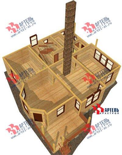 двухэтажный дом из профилированного бруса площадью свыше 200 кв. м. с  балконом, мансардой, террасой, эркером, проект Вариант 10.5 А фотография 1328