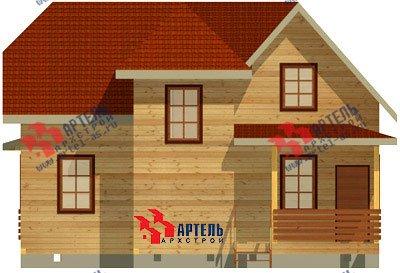 двухэтажный дом из бруса площадью от 150 до 200 кв. м. с  мансардой, террасой, эркером, проект Вариант 10 Д фотография 1355