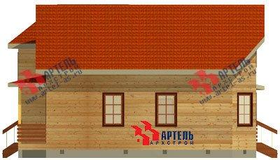 двухэтажный дом из бруса площадью от 150 до 200 кв. м. с  мансардой, террасой, эркером, проект Вариант 10 Д фотография 1356