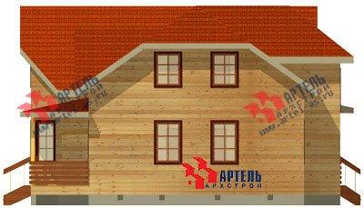 двухэтажный дом из бруса площадью от 150 до 200 кв. м. с  мансардой, террасой, эркером, проект Вариант 10 Д фотография 1358